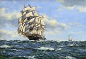 The Clipper Leander in Full Sail