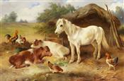 Corner of the Farmyard, Walter Hunt