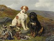 English & Gordon Setters with Days Bag, John Sargent Noble