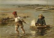 Playing in the Sea, William Marshall Brown
