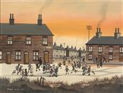 "Kinder Street, Children playing in the Snow"", Brian Shields -  BRAAQ"