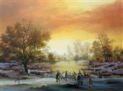 Sunset over Frozen Lake, Brian Shields -  BRAAQ