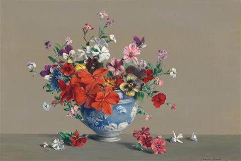 Laurence Biddle | Biddle - Geraniums, Pansies, Verania, Phlox Drummondii, Vuganina Sticks, Cornflower