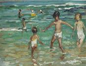Children on a Cornish Beach, Dorothea Sharp