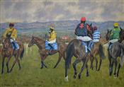 A scene from Ludlow Races 19/20 season, David Fowles