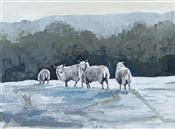 Sheep in Snow, Barbara Goolden
